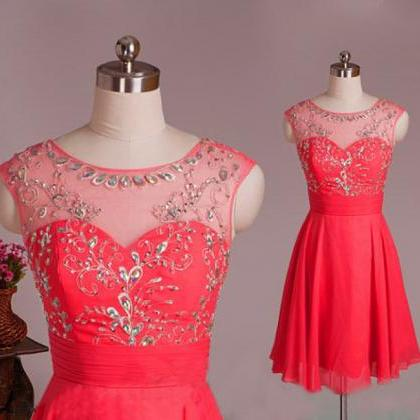 Short Homecoming Dress, Chiffon Hom..