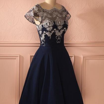 Navy Chiffon Homecoming dresses, La..