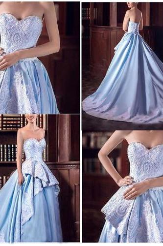 Gorgeous A-Line Prom Dress,Sweetheart Prom Dress,Sleeveless Backless Prom Dress, Prom Dress With Appliques,Lace Prom Dress,PD0124
