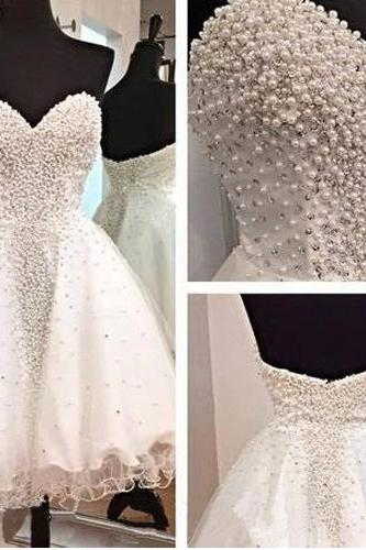 Short Prom Dress,White Prom Dress,Sweetheart Prom Dress,Luxury Prom Dress,Backless Prom Dress,Organza Prom Dress,PD0231