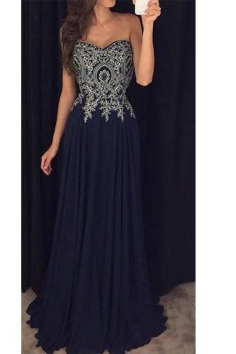 Long Prom Dress,Sweetheart Prom Dress,Lace Prom Dress,Chiffon Prom Dress,Sleeveless Prom Dress,Prom Dress With Appliques,PD0256