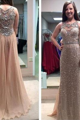 Sequin Prom Dress,Long Prom Dress,2016 Prom Dress,Shinning Prom Dress,Gorgeous Prom Dress,Sleeveless Prom Dress,Popular Prom Dress,PD0339