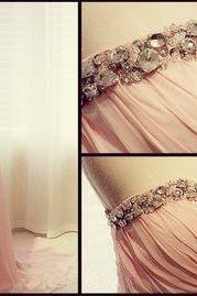Long A-Line Prom Dress,Chiffon Prom Dress,Rhinestone Prom Dress,Popular Prom Dress,Evening Dress,Graduation Dress,PD0387