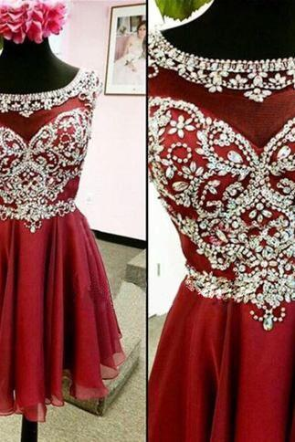 Homecoming Dresses,Rhinestone Homecoming Dress,Chiffon Homecoming Dresses,Juniors Homecoming Dress,Cheap Homecoming Dresses,PD0441