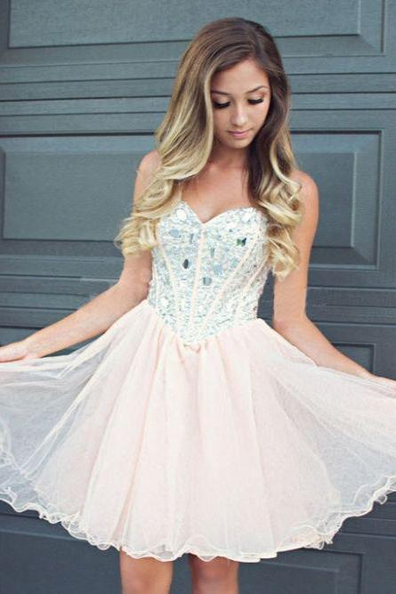 Cute Homecoming Dresses,Organza Homecoming Dresses,High Quality Homecoming Dresses,Juniors Homecoming Dresses,PD0458