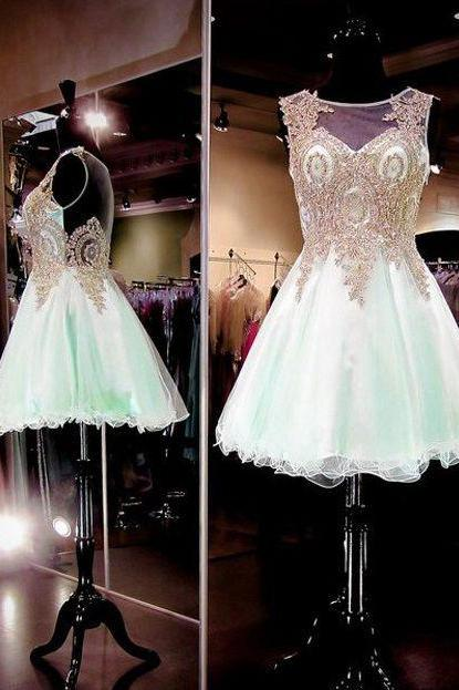 Homecoming Dresses,Lace Homecoming Dresses,Popular Homecoming Dresses,Ming Green Homecoming Dress,Cheap Homecoming Dress,Juniors Homecoming Dress,PD0502