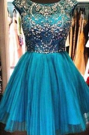 New Arrival Homecoming Dresses, Rhinestone Homecoming Dresses, Tulle Homecoming Dresses, Charming Homecoming Dresses, Homecoming Dresses, Juniors Homecoming Dresses, Cheap Homecoming Dresses, PD0686