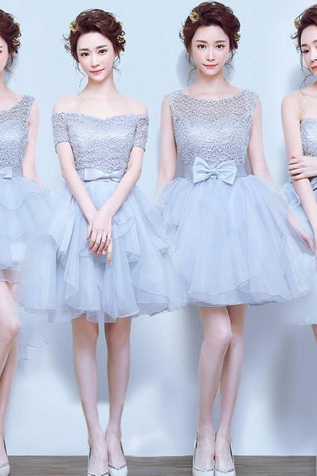Lace Homecoming dresses, Cute Homecoming Dresses, Tulle Homecoming Dresses, Mismatched Bridesmaid Dresses, Bridesmaid Dresses, Homecoming Dresses, Juniors Homecoming Dresses, Cheap Homecoming Dresses, PD0726