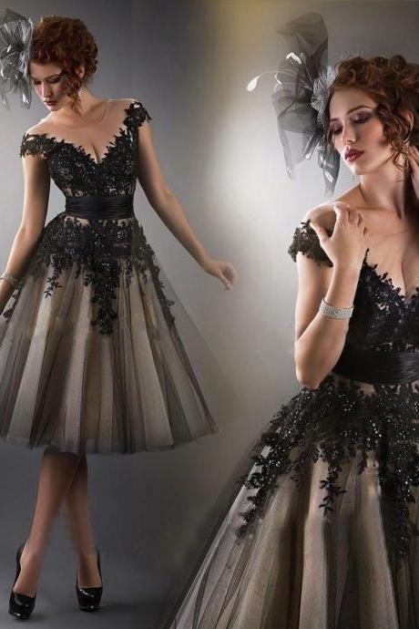Sexy Black Lace Homecoming Dresses, Off Shoulder Homecoming Dresses, Tulle Homecoming dresses, Short Prom Dresses, Homecoming Dresses, Cheap Homecoming Dresses, Popular Homecoming Dresses, PD0765