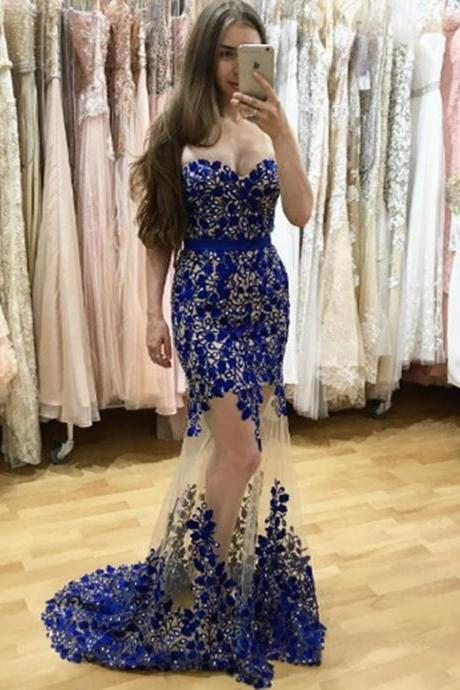 Sweetheart Appliques Prom Dresses, See Through Rhinestone Prom Dresses, Gorgeous Prom Dresses, Popular Prom Dresses, Cheap Prom Dresses, 2017 Prom Dresses, Prom Dresses, PD0957