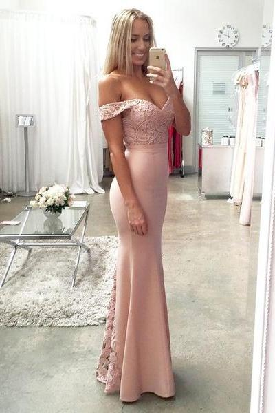 Off Shoulder Lace Top Prom Bridesmaid Dresses, Mermaid Prom Dresses, Gorgeous Prom Dresses, Cheap Prom Dresses, Popular Prom Dresses, Bridesmaid Dresses, Prom Dresses, Long Prom Dresses, PD0970