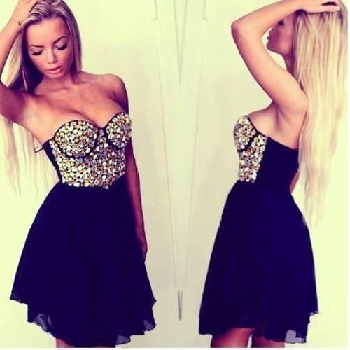 Short Prom Dress,Black Prom Dress,Sweetheart Prom Dress,Sequin Prom Dress,Chiffon Prom Dress,Sleeveless Prom Dress,Sexy Prom Dress,PD0233