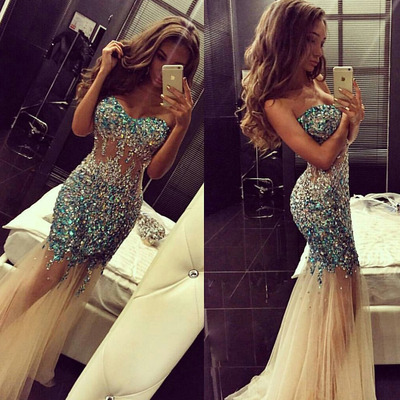 Rhinestone Prom Dress,Sweetheart Prom Dress,Mermaid Sexy Prom Dress,Perfect Evening Dress,Charming Prom Dress,PD0351